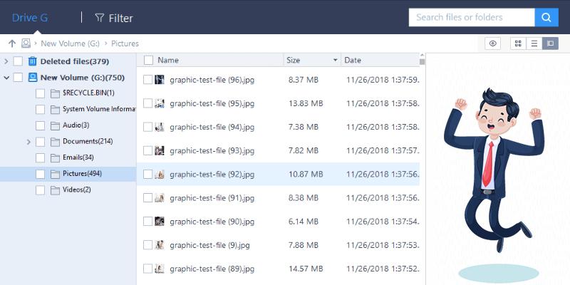 Récupération de fichiers